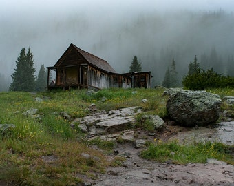 Rustic Cabin Photography, Colorado Mountain Photography, Cabin Decor, Epic Landscape, Nature Photography, Scenic Forest Decor