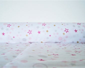 Coupon colorful stars, 48 X 50 cm, cotton fabric