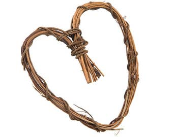 Grapevine Heart - Natural - 6 inches - 1 Piece (dar280208)