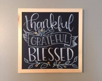 Hand Lettered Thanksgiving Chalkboard Sign