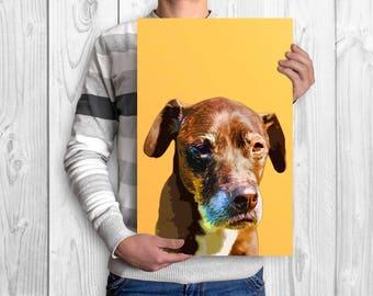Custom dog Portrait Custom pet portrait Pop art dog portrait Custom dog pop art watercolor dog art Dog portrait from photo Pet loss gift