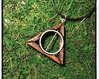 "Deathly Hallows - ""Hybrid"" necklace pendant harry potter"
