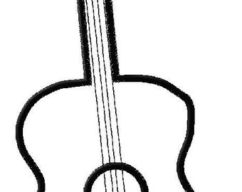 Embroidery Design Applique Guitar