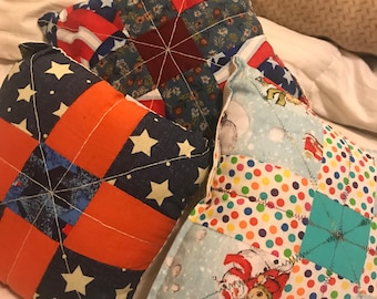 DIY quilted pillow kit