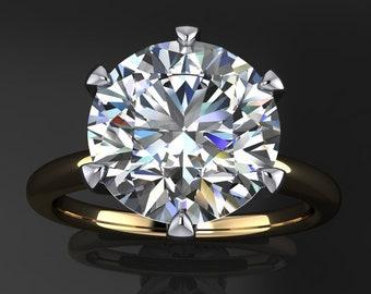naomi ring - 2.7 carat round NEO moissanite engagement ring, round moissanite ring