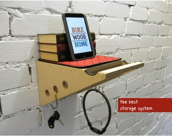 Bicycle rack, Bike wall mount, Bicycle shelf. Best gift ideas for cyclist