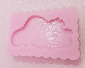 Silicone mold Cheshire Alice in Wonderland/Cheshire cat silicone mold Alice in Wonderland