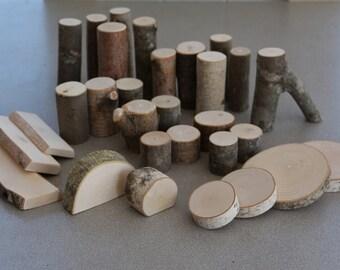 Tree Branch Blocks Natural Building Block Set Waldorf Inspired Toys