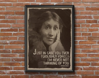 Virginia Woolf, Virginia Woolf Art, Virginia Woolf Print, Virginia Woolf Quote, Literary Poster, Art Print Vintage, Gift For Readers