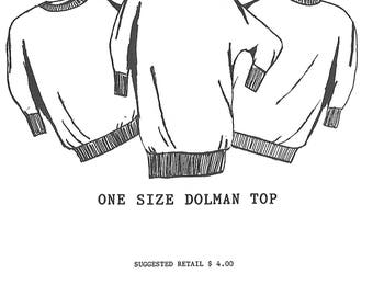 It's Just Another Great Copy, One Size Dolman Top Sewing Pattern, UNCUT