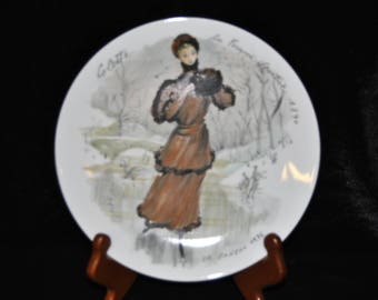 1976 Collectible Plate, Collette la Femme Sportive