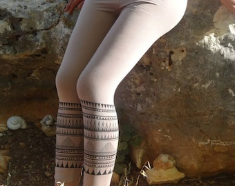 Tribal Leggings ~ Organic Cotton~
