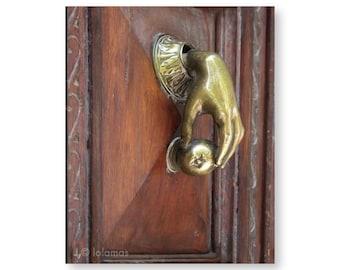 Door Knocker print, Barcelona, Rustic Wall Decor, Architecture prints, Art Gallery, Wall Print