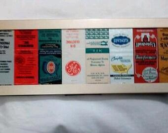 Artistically arranged Vintage Matchbox's, its Art! Visually appealing matchbox art!