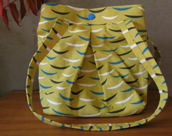 Yellow Turquoise Skiff Soft Purse Slouch Tote Graphic Project Bag