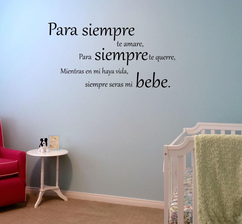 Espa Ol Yo Te Amar Por Siempre Vinilo Pared Calcoman A # Muebles Estilo Pearce