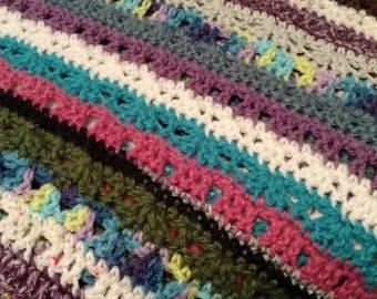 Unique crocheted crazy afgahn