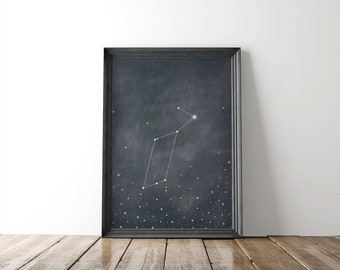 Lyra Constellation Fine Art Print // astronomy print // wall art // constellation print // wall decor // minimalist // 8x10 print // stars