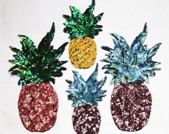 pineapple sequins embroidered Patch applique Sequin clothes patch appliques DIY decoration