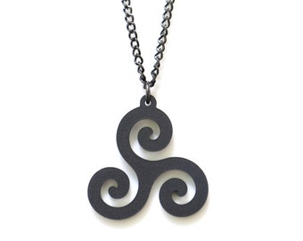 Teen wolf - Triskele necklace - teen wolf jewelry - Triskelion necklace - teen wolf necklace - teen wolf jewellery - derek hale - spiral