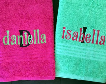 Embroidered Towels, Personalized Towels, Bath Towels, Kids Personalized  Towels, Birthday Present,