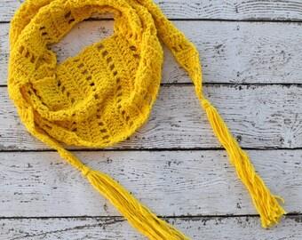 Crochet Scarf PATTERN - Summer Scarf Pattern - Cotton Crochet Pattern - Spring Crochet Pattern - Summer Crochet Pattern