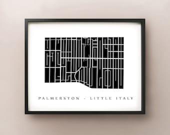 Palmerston Little Italy Map - Toronto Neighbourhood Art Print