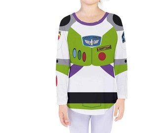 Kid's Buzz Lightyear Toy Story Inspired Long Sleeve Shirt