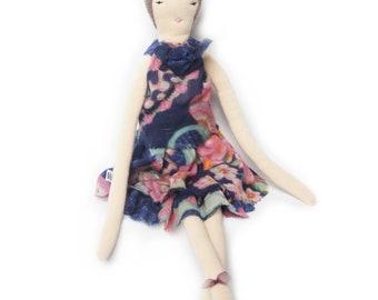 Lori by Bäibi Dolls. Rag Doll. Cloth Doll. Soft Doll. Rag Doll. Manual work. Made in Switzerland.