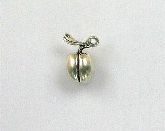 Sterling Silver 3-D Peach Charm