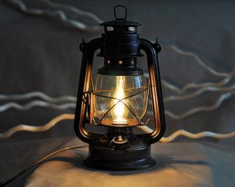 Table Lamp Electric Oil Lantern, Brown Lantern, Kerosene Lamp, Night Light,  Vintage