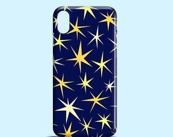 Cutout Stars phone case / stars iPhone X case, iPhone 8, night iPhone 7, iPhone 7 Plus, iPhone 6, iPhone 5/5S/se, Samsung Galaxy S7, S6, S5