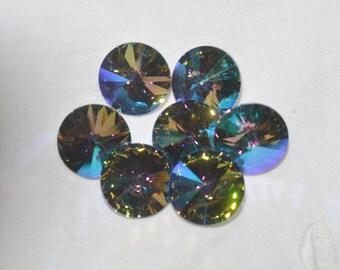 6 pieces 1122 Paradise Shine 14mm Swarovski Crystal Rivolis