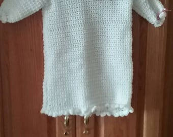 Infant girl hand crocheted dress