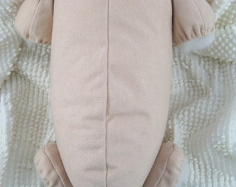 "20"" reborn doe suede body for baby doll kits 3/4 arms & full jointed legs"