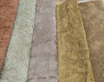 1/8 metre antique style viscose in cafe latte (Third from the left)