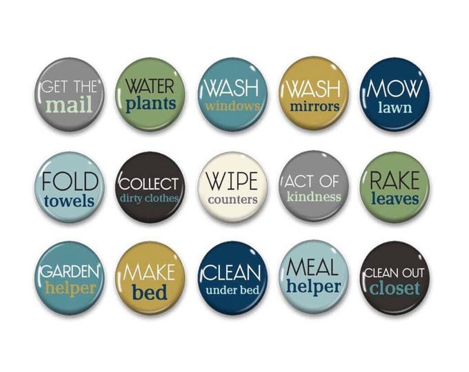 Chore Chart Magnets - Chalkboard Chores - Kids Chores - Family Jobs - Daily Routine - Chore Chart - Family Organization - Fridge Magnets