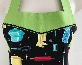Midcentury Modern apron for women / retro apron / reversible apron / vintage style / aprons for women / retro kitchen