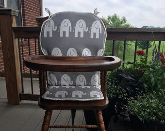 High Chair Cover. High chair pad. highchair cover. high chair cushion. wooden high chair pad. highchair cushion. highchair pad. vintage