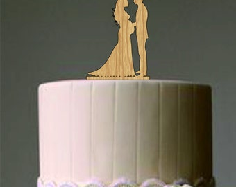 Pregnant wedding cake topper - Bride and Groom Silhouette Cake Topper - Custom Cake Topper - Unique Cake Topper - Silhouette Cake Topper