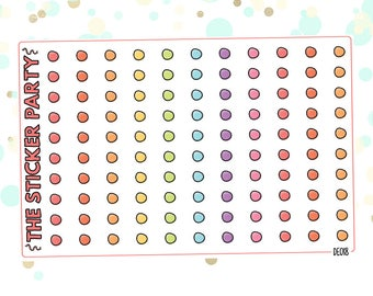 Doodle Dots Planner Stickers