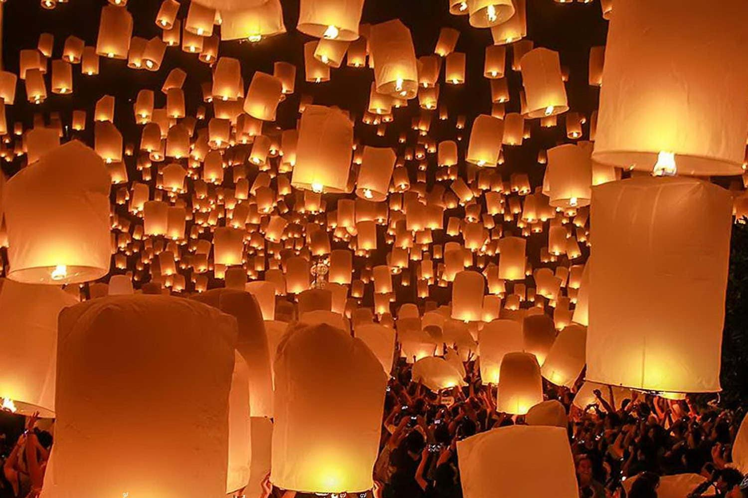HOT BUY 2 Get 1 FREE Colorful Big Thai Floating Lantern Sky for Flying Lantern Lights  284dqh
