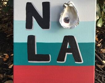 NOLA oyster canvas
