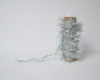 Glitter Trim Tinsel Trim Ice Blue Silver Twine Fuzzy Garland Trim 10 Yards Gift Wrapping Craft Projects