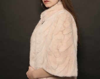 Mink Fur  Jacket, Pink Mink Fur, Mink jacket
