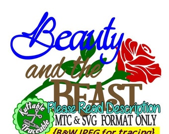 Beauty and Beast Title and Quote Bundle Cut File MTC & SVG Format