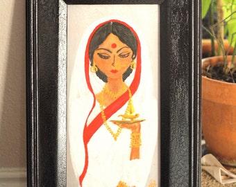 Bengali Bride Original Painting in Acrylic
