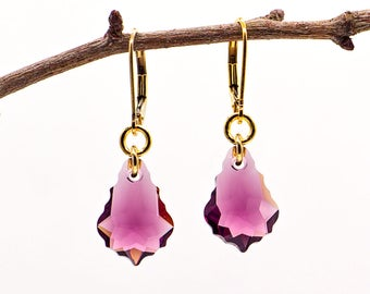 Swarovski Baroque Crystal Earrings