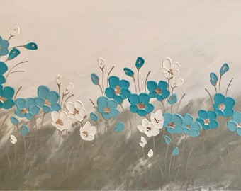 Tiffany Poppies at Dawn painting by Naomi Crowther 120x60cm