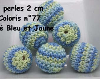 2 beads 20mm crochet color 77